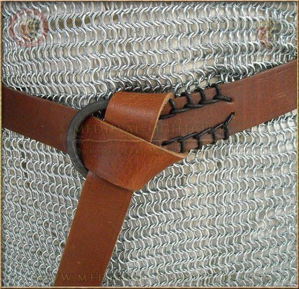 Medieval Iron Ring Belt leather
