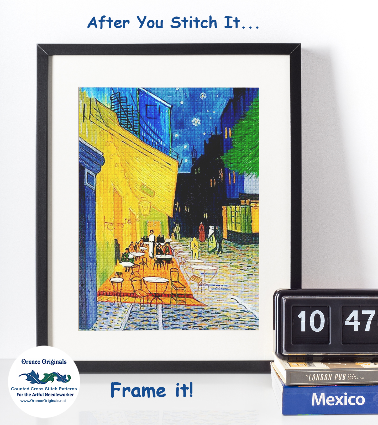 Orenco Originals First Steps by Vincent Van Gogh Counted Cross Stitch Pattern
