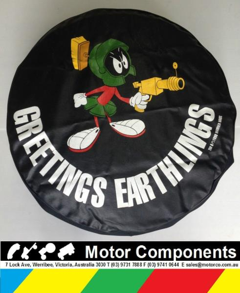 14151617 DianeBonselaar Tire Cover Marvin The Martian Wheel Tire Cover Waterproof Dust-Proof Sun Protection Tire Cover for Jeep Trailer Rv SUV and Many Vehicle