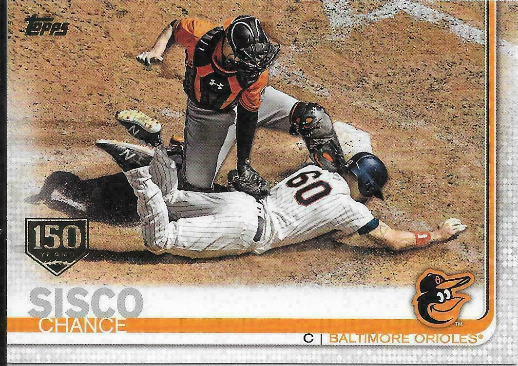 2019 Topps 150 Years Gold Stamp #529 Chance Sisco Baltimore ...
