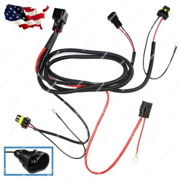 H11 H8 Relay Wiring Harness For Hid Conversion Kit  Add