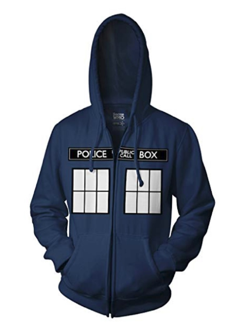 Black Size XL Blue Box Gallifrey Doctor Who Tardis Sweatshirt Hoodie