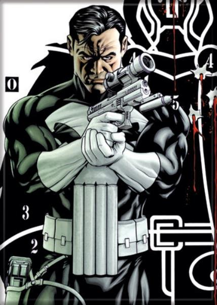 Marvel Comics The Punisher With Pistol And Target Refrigerator Magnet New Unused Ebay