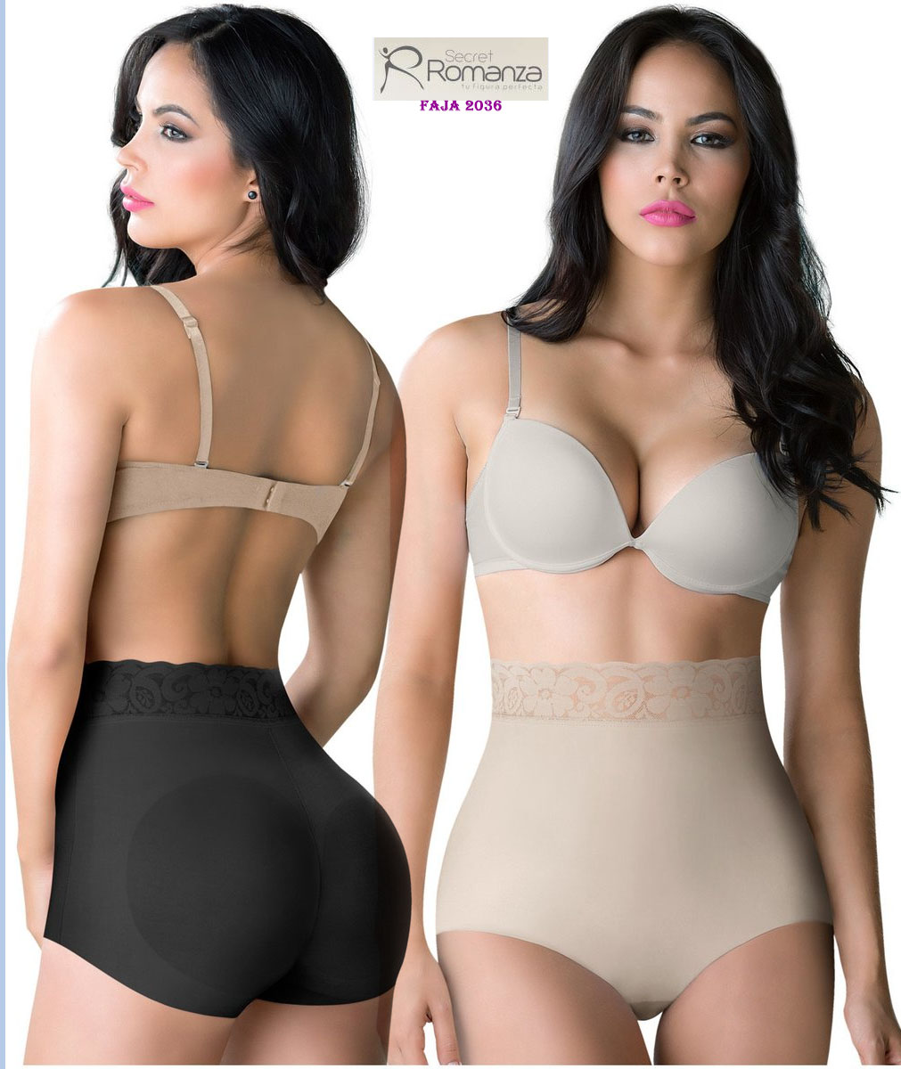 ARANZA Womens Butt Lifting Brief Colombian with Lace