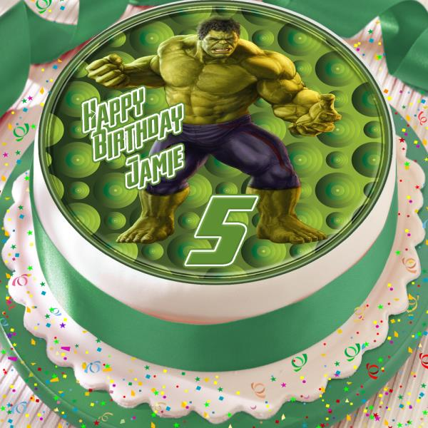 Remarkable Hulk Avengers Birthday Personalised 7 5 Inch Edible Cake Topper Birthday Cards Printable Trancafe Filternl