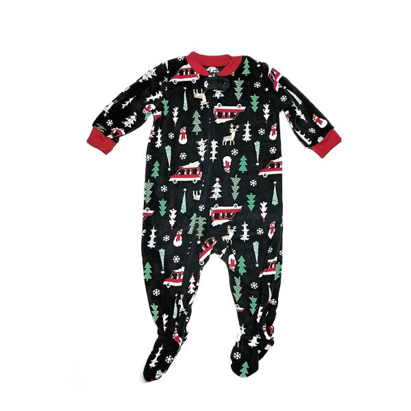 Carters Baby Boys Holiday Microfleece One Piece Footed Pajamas