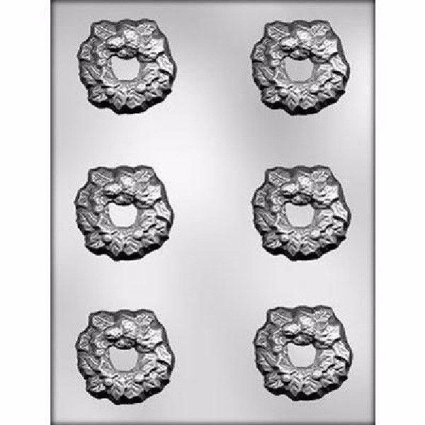 Holly Wreath  Chocolate Candy Mold  Winter cold  Christmas