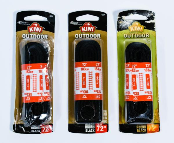 Eyelets NEW Kiwi Outdoor 72 Inch Round Brown Shoelaces 9