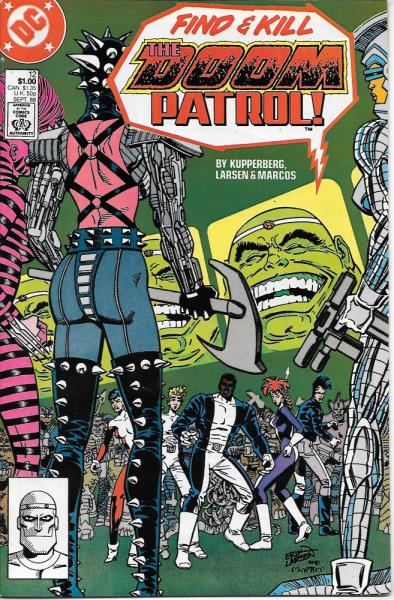 The Doom Patrol Comic Book 12 Dc Comics 1988 Fine Ebay