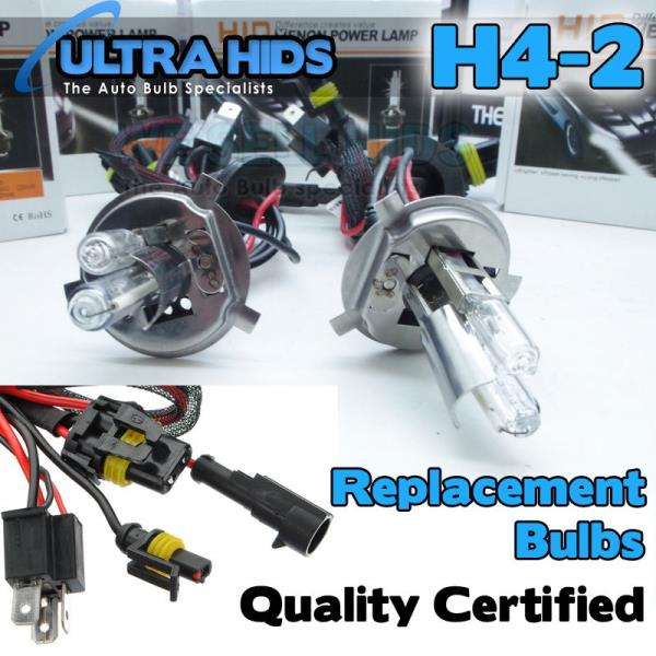 2X HID Xenon Bulbs H4 35W Headlight Conversion Replacement 4300K Double Beam UK