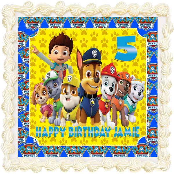 Miraculous Paw Patrol Rectangle Square Personalised Icing Edible Costco Funny Birthday Cards Online Alyptdamsfinfo