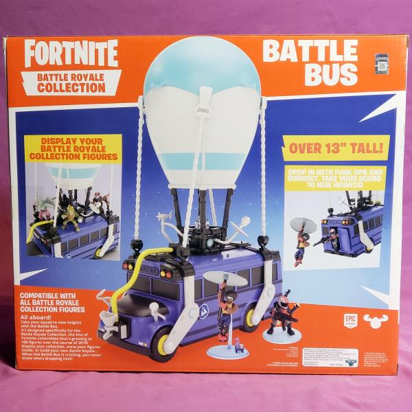 Fortnite Epic Games Mini Figure Battle Bus Playset BRAND NEW