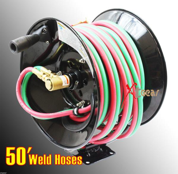 Business & Industrial 100ft Manual Retractable Twin Hose Reel for ...