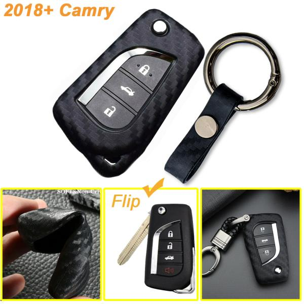 Toyota Key Fob Silicone Rubber Remote Cover for Flip Key Camry 2018 2019