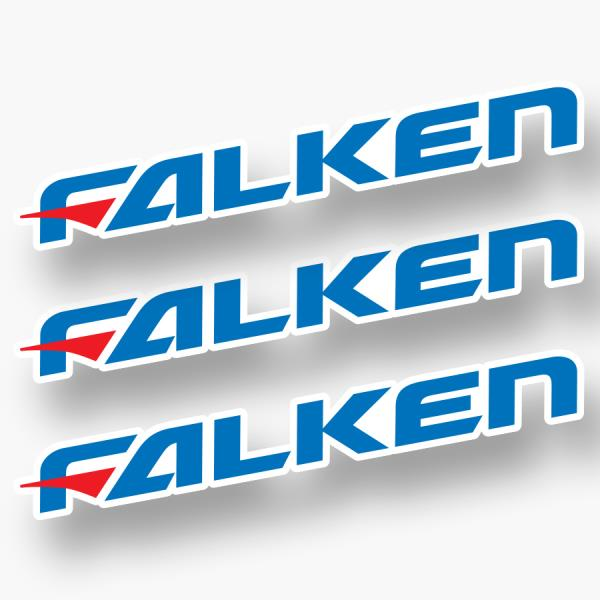 2x FALKEN DECAL STICKER
