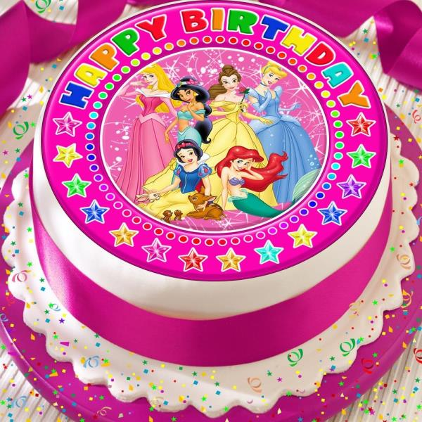 Miraculous Princess Pink Precut Edible Happy Birthday Cake Topper Decoration Funny Birthday Cards Online Elaedamsfinfo