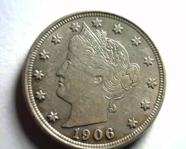 1906 5c Liberty V Nickel US Coin XF EF Extremely Fine
