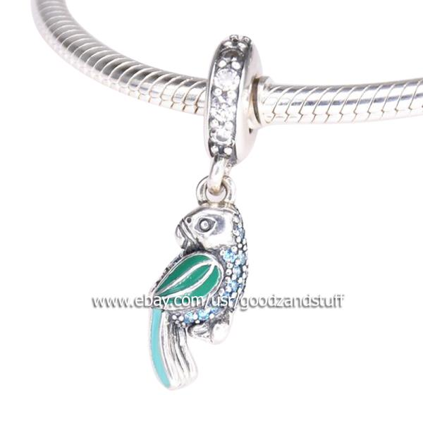 Pendant Bracelet Necklace Sterling Gift Bird Genuine 925 Silver Parrot Charm