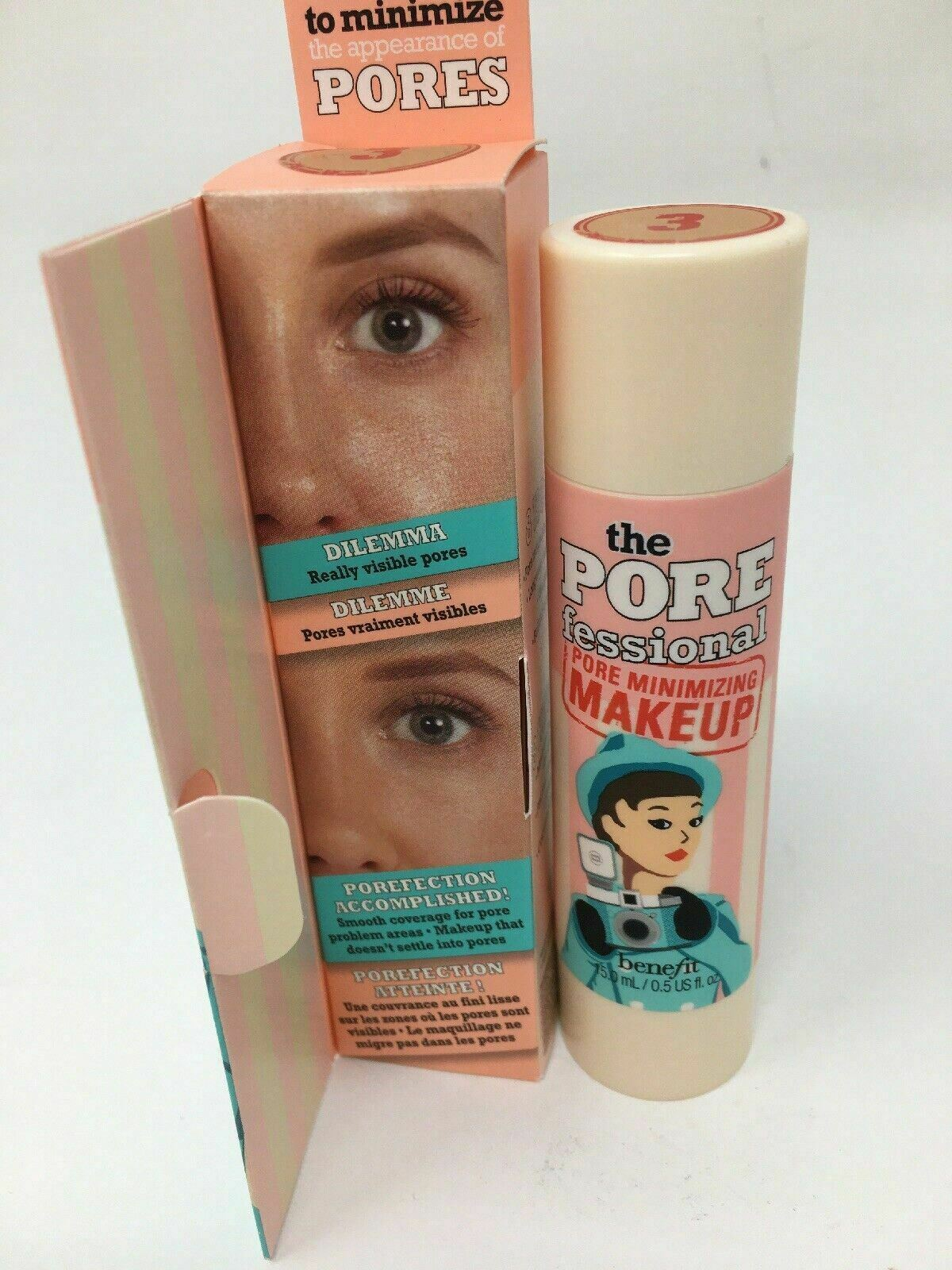 Benefit The Porefessional Pore Minimizing Makeup In 3 Nib