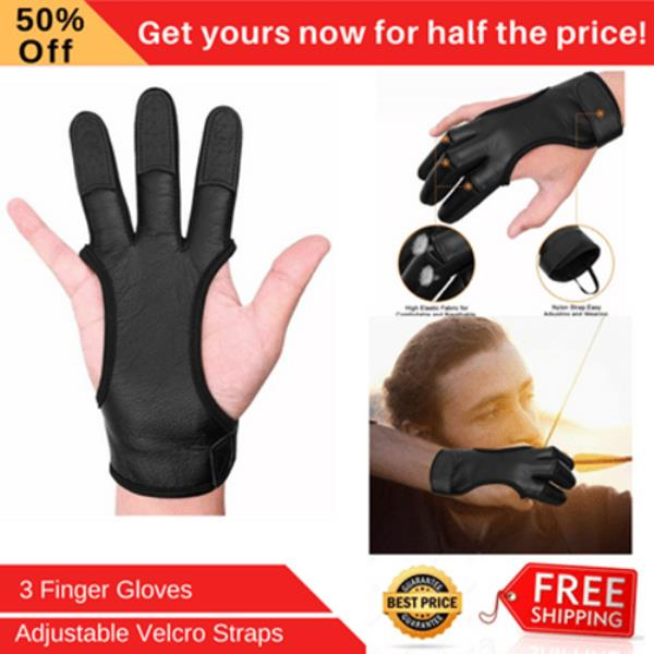 ARCHERS BOW LEATHER SHOOTING 4 HALF FINGERS GLOVE