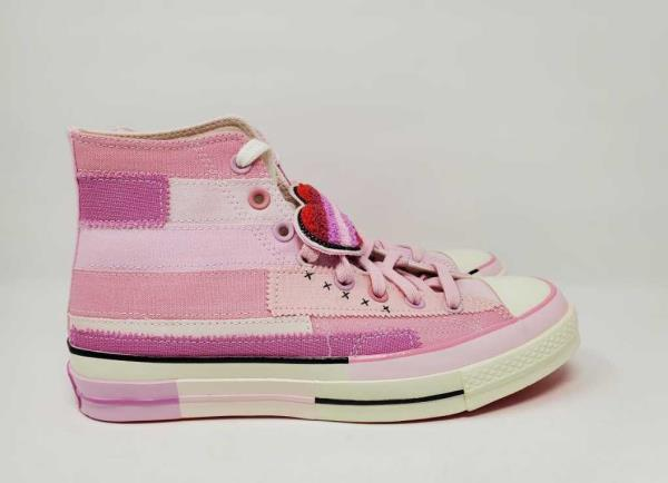 New Women S 10 5 Converse X Millie Bobby Brown Chuck 70 Hi Petal Pink Shoes Ebay