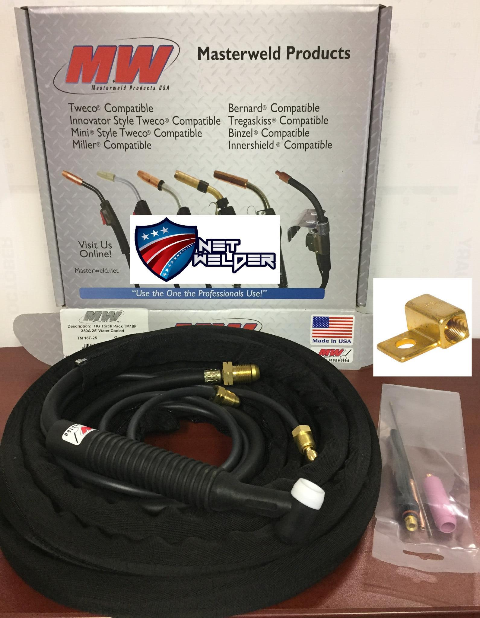 "Masterweld WP20-12 /""TIGMASTER/"" Torch Water-Cooled 250AMP Made in USA"