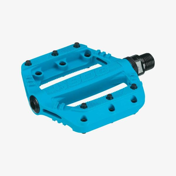 SDG Slater 90x90mm CroMo axle Blue//Neon Pink 2 Color Bicycle Bike Pedals