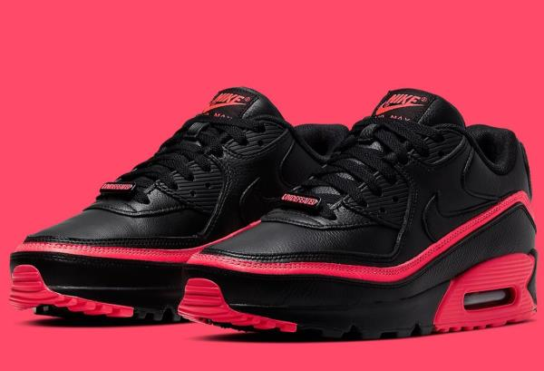 Nike Air Max 90 Undefeated Black Solar Red Black Mens Shoes Ebay