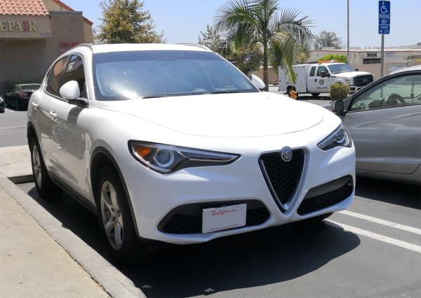 Alfa Romeo Stelvio for 17-Up Front Bumper Tow Hook License Plate Bracket