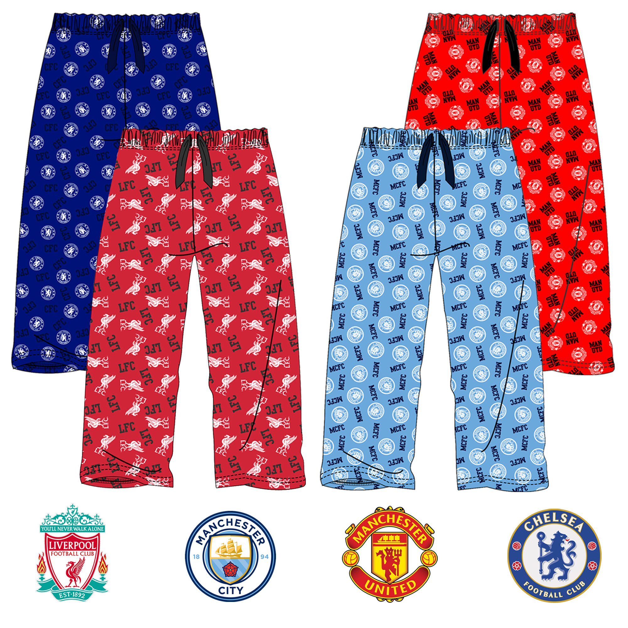 Official Adults Liverpool Fc Lounge Pants Pyjama Bottoms 100 Cotton Sizes S To Xl