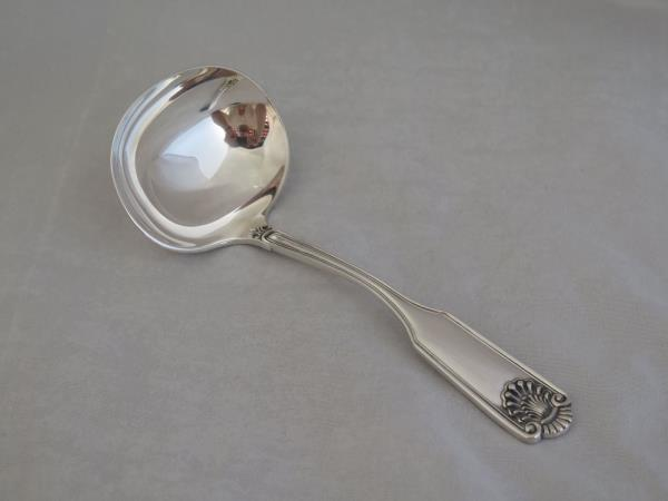 Fiddle Shell by Frank Smith Sterling Silver Oval Soup// Dinner Spoon