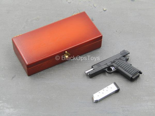 1 6 Scale Toy John Wick Wood Colored Pistol Case W 1911 Variant Pistol Ebay