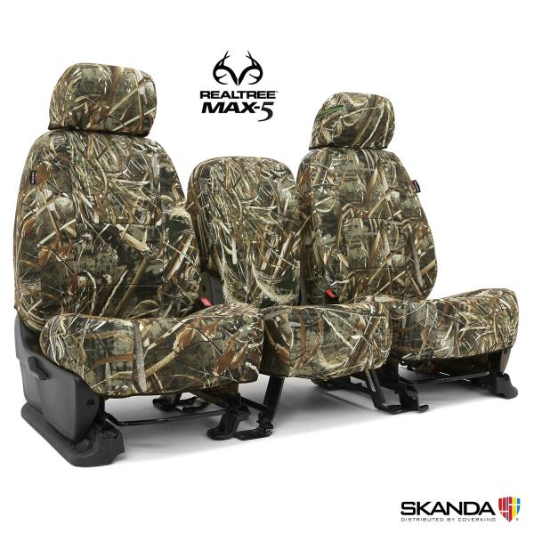 Coverking Realtree Max-5 Camo Custom Tailored Seat Covers for Chevy Colorado