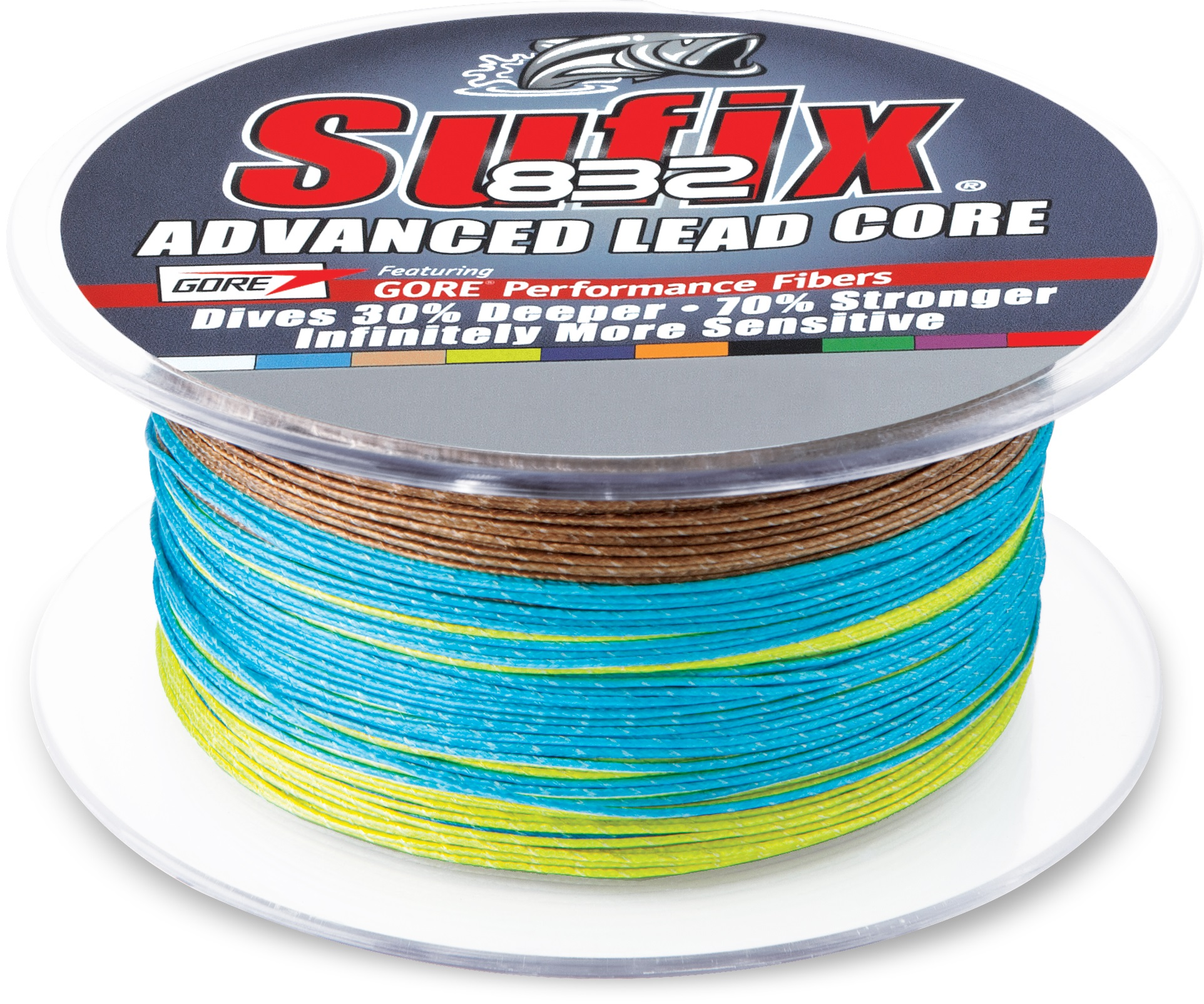Sufix 658 Advanced #832 Lead Core Line 12 or 18 Lb NIP 200Yd Metered 10 Colors