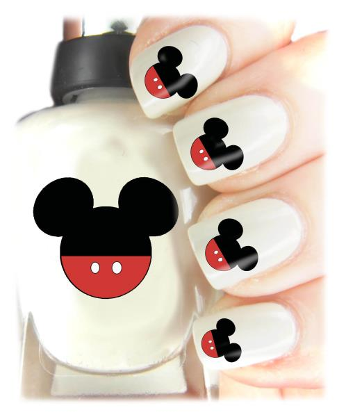 Mickey Mouse Nail Art Decal Stickers Easy To Use On Any Colour Nail 433 Ebay