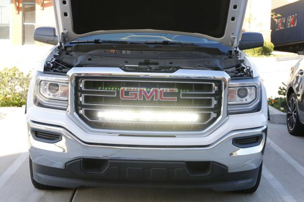 Details About 150w 30 Cree Led Light Bar W Behind Grille Bracket Wiring For 14 18 Gmc Sierra