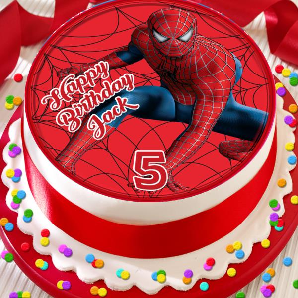 Astonishing Spider Man Happy Birthday Personalised 7 5 Inch Edible Cake Topper Funny Birthday Cards Online Inifofree Goldxyz