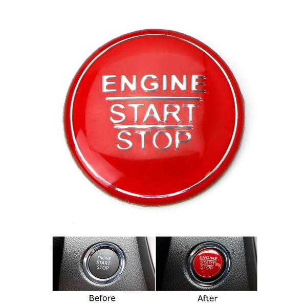 LLKUANG Engine Start Stop Push Button Switch Sticker Cover for 2016-2020 Toyota Tacoma Aluminium Alloy Car Accessory red