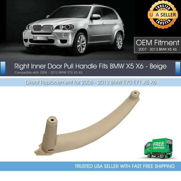 Right Inner Door Panel Handle Pull Trims Cover For BMW E70 X5 51416969404 X6 E71