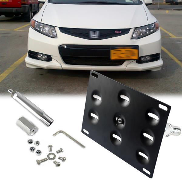 1x Tow Hook License Plate Bumper Relocator Bracket For