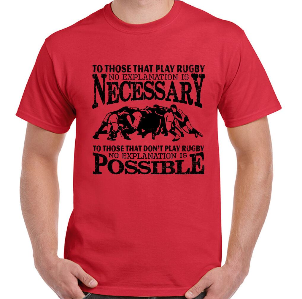 Funny Rugby T-Shirt To Those That Play Mens England Scotland Wales Top Jersey