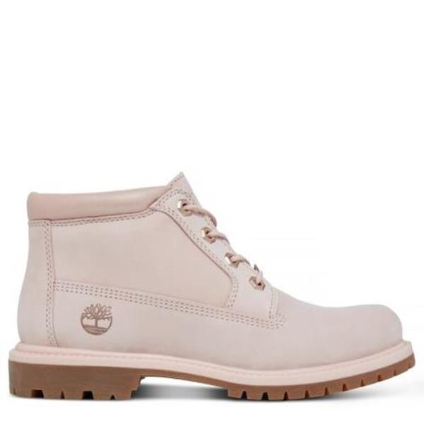 Details zu Timberland Nellie Ladies Chukka Boots In Cameo Rose Pink Waterbuck Leather