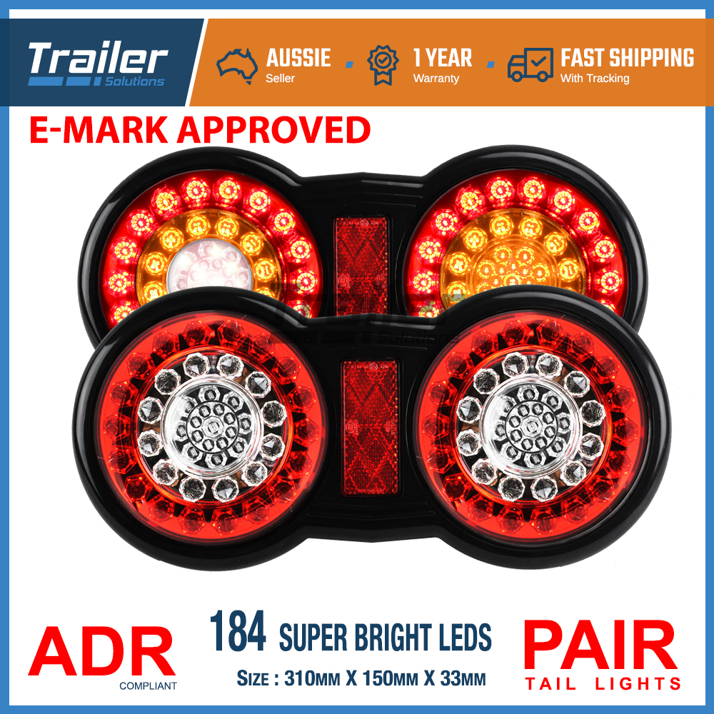 Led Truck Tail Lights >> Details About 2x 184 Led Tail Lights Ute Trailer Caravan Truck 4x4 Stop Reverse Indicator 12v
