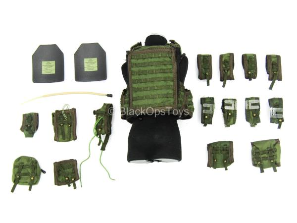 OD Green Vietnam Style Ammo Bag 1//6 Scale Toy Bank Robber