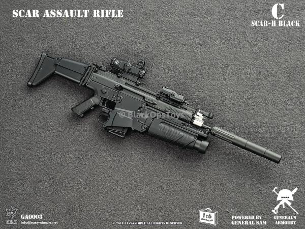 1//6 Scale Toy Tan SCAR-H MK17 fusil d/'assaut un Comme neuf IN BOX