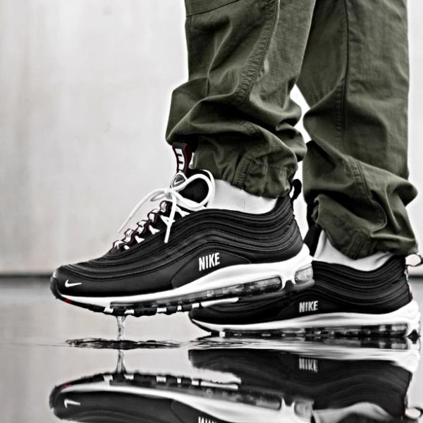 Details about Nike Air Max 97 Premium Black White Size 7 8 9 10 11 12 13 Mens Shoes 312834 008