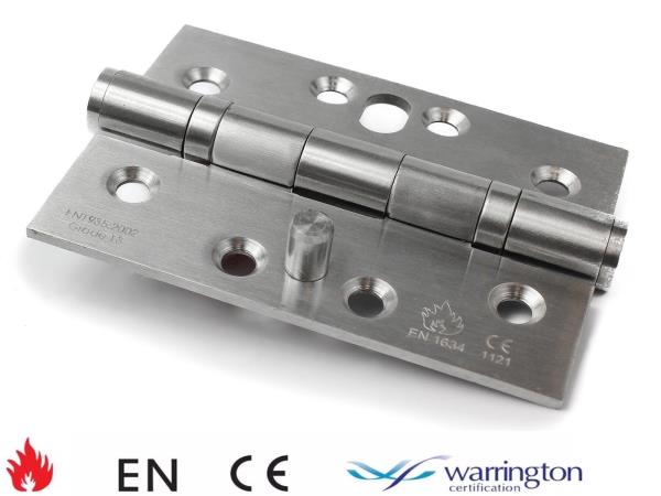"""50 Pairs 3/"""" 76mm Fire Rated Ball Bearing Hinges Satin Stainless Steel Grade 7"""
