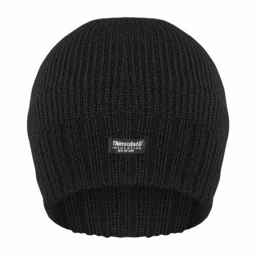 Ladies//Womens Cable Knit Fleece Lined Winter Beanie Hat HA515