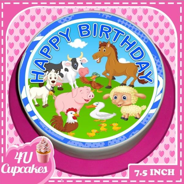 """70th birthday cake topper round comestibles glacé//icing 7.5/"""" 8 cupcake toppers"""