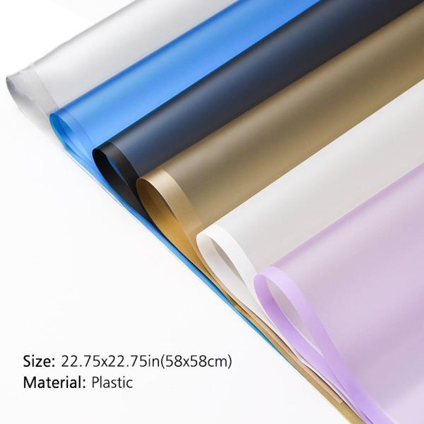 Moisture Proof Translucent Dark Blue Border Gift Wrapping Paper for Parties